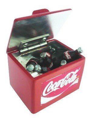 Genial Mini Hielera Coca Cola En Escala Miniatura