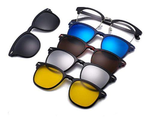 Lentes Polarizados 5 En 1 Gafas Intercambiables Magnéticos