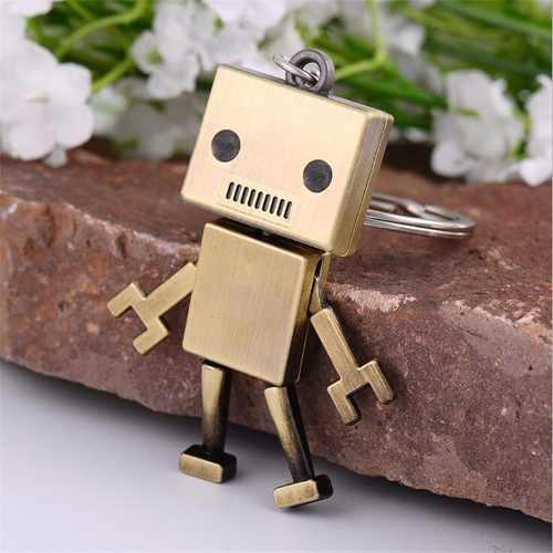 Llavero En Forma De Robot En Acero Metálico