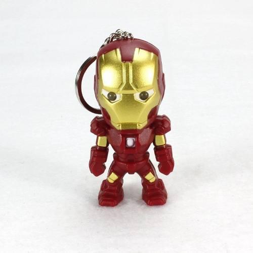 Llavero Iron Man Marvel Avengers Led Y Sonido + Envío