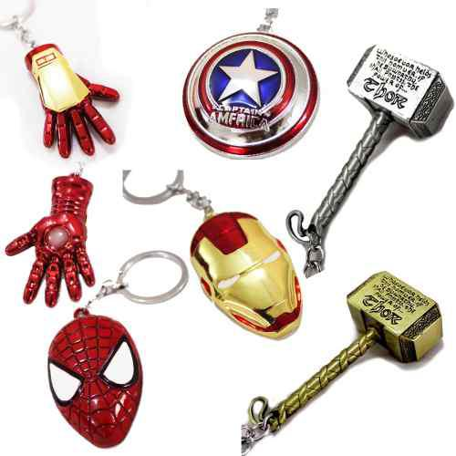 Llaveros Marvel Grande Martillo Thor Ironman Capitan America