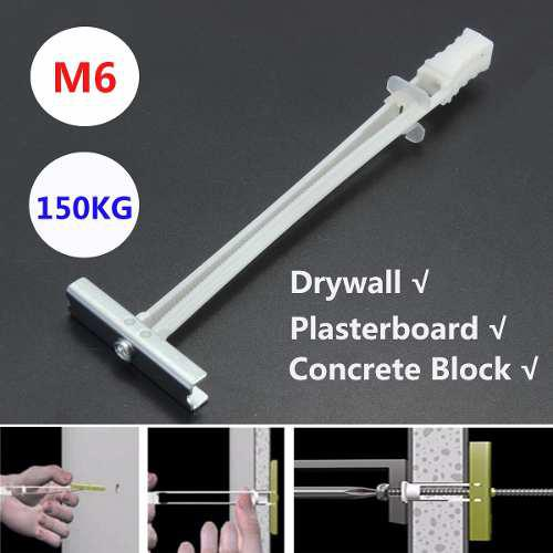 M6 Placa De Yeso Plasma Lcd Led Tv Fijación Drywall Toggler