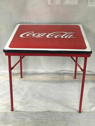 Mesa Metálica Porcelanizada Coca Cola