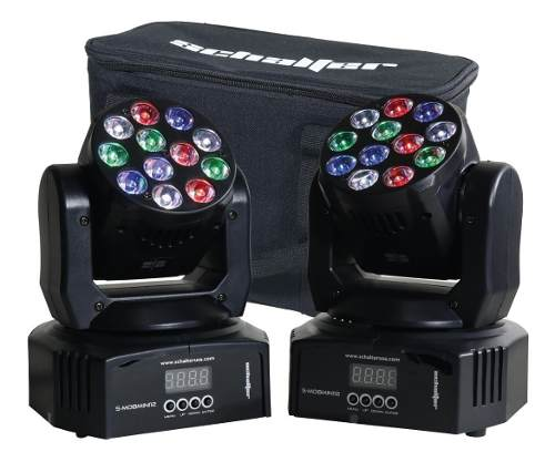 Mini Cabeza Movil Wash Led 12x5w Robotica 2 Pz Rgbw