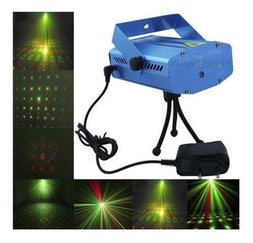 Mini Estacion De Luz Laser Multipuntos Verde Rojo Y Tripie