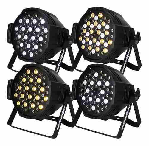 Par 64 Color 54x5w Luz Fria Y/o Luz Calida Hyper Led Pack 4