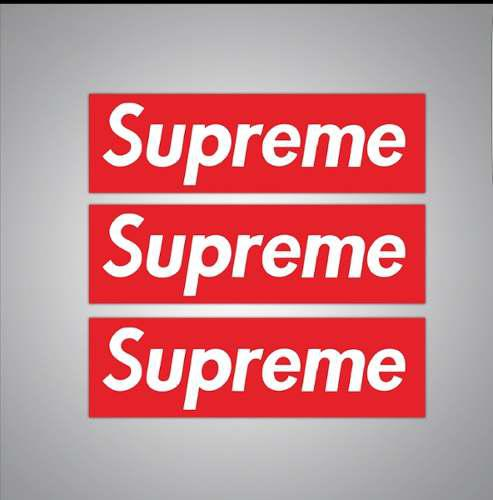 Supreme 15 Calcomanias Stickers Pvc Impermeables