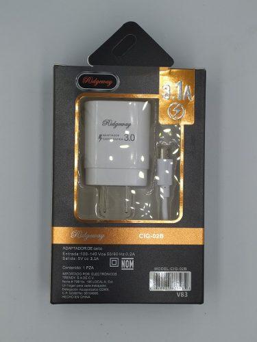 Turbo Cargador Usb V8 Cable Micro Usb 5v 3.1a -mayoreo