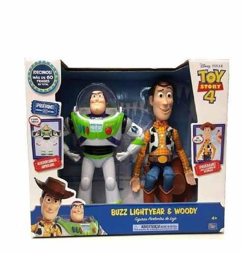 Buzz Y Woody Toy Story 4 Parlantes De Lujo 60 Frases