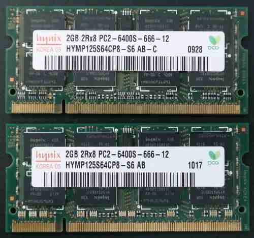 Memorias Ddr2 Kit De 4gb (2x2gb) P/laptop Hynix Pcs
