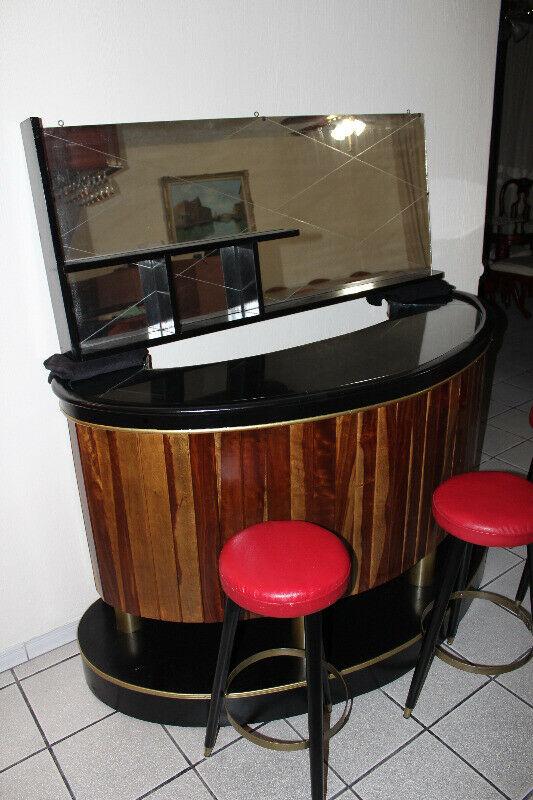 Mueble tipo bar madera de parota