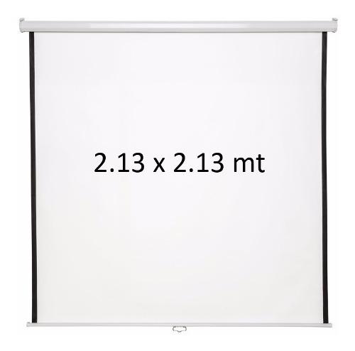 Pantalla Para Proyeccion Proyector Retractil Manual 120