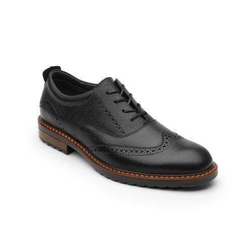 Zapato Bostoniano Flexi Caballero  Negro