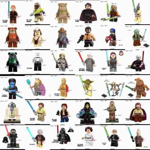 22 Figuras A Escoger Star Wars Darth Vader Comp Lego