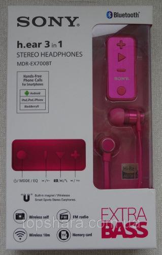 Audifonos Sony Bluetooth, Entrada Sd Card, Mdr-ex700bt
