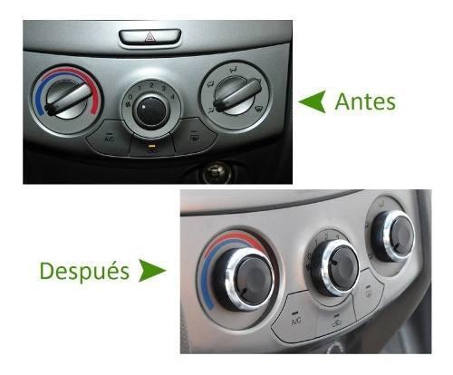 Botones Perillas A/c Calefacción Gm Aveo, Spark Aluminio
