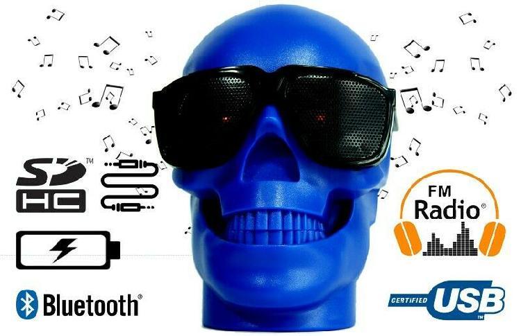 Cabeza De Cráneo Forma De Altavoz Inalámbrico Bluetooth