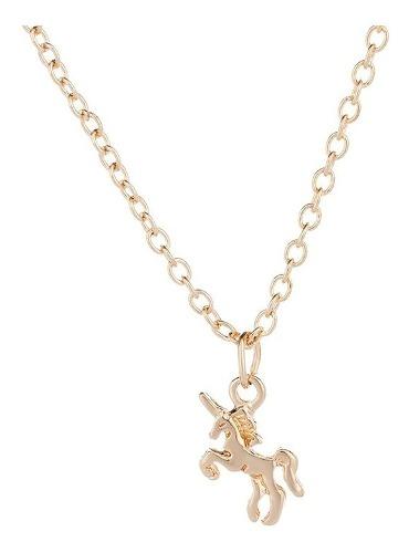 Collar Unicornio Baño Oro Plata Al 2x1 ¡adóptame! +