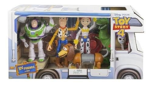 Disney Pixar Toy Story 4, Pack 6 Figuras Rv Friends Mattel
