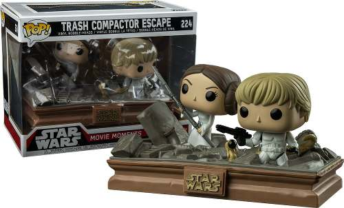 Funko Pop Movie Moments Trash Compactor Escape #224