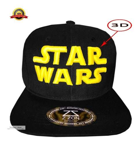 Gorra Star Wars Darth Veder Yoda Luke Skywalker Logo 3 D