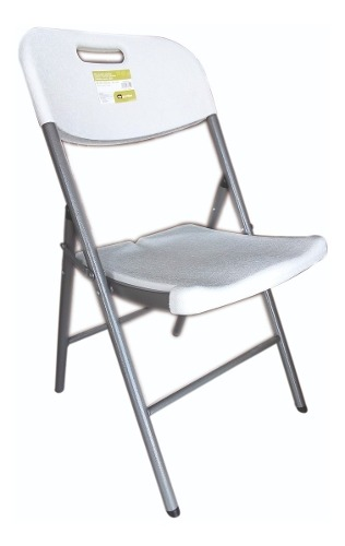 Kit De 4 Silla Plegable De Plastico Y Acero Para Exterior