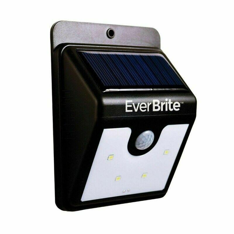 Lampara Luz LED Ever Brite Panel Solar Sensor Movimiento