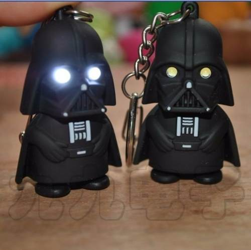 Llavero Lampara Star Wars Darth Vader Con Luz Led Y Sonido