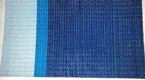 Malla Sombra 95% Azul A Rayas Y Cafe A Rayas M2