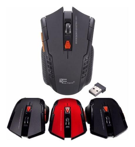 Mouse Inalambrico Gamer 6 Botones Dpi  Ergonomico