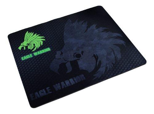 Mouse Pad Eagle Warrior Negro Gamer Juego Pc Mac Goma