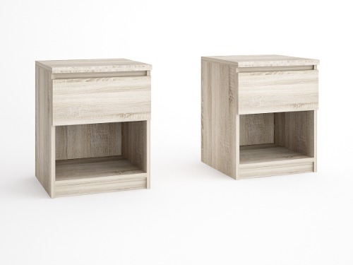 Mueble Buro 1 Cajon, Ideal Para Recamara Y Sala Nubmkt1-cf