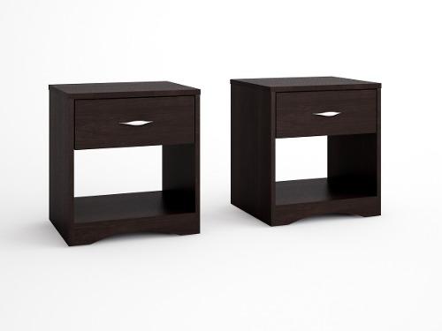 Mueble Buro Con 1 Cajon, Ideal Para Recamara Y Sala Nu