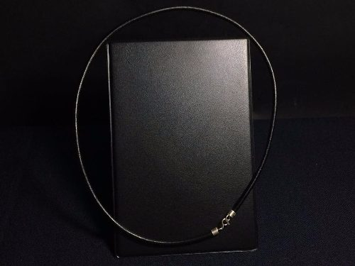 Oferta Limitada Collar Caucho Broche De Plata Ley 925 Taxco