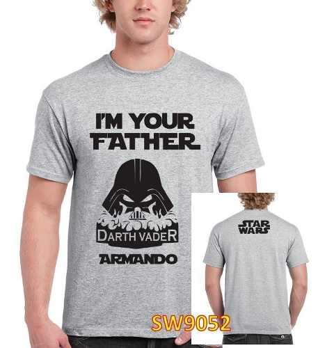 Playera Día Papa Padre Tipo Star Wars Personalizada Nombre