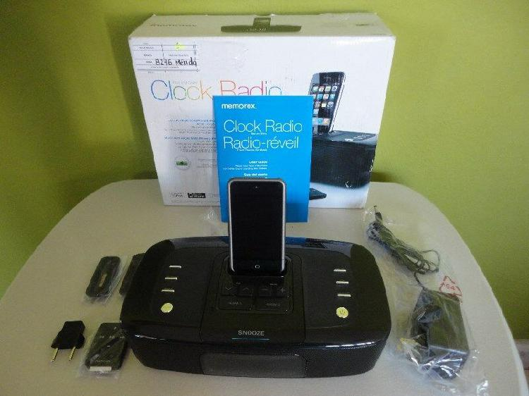Radio Reloj Despertador Para iPhone y iPod Completamente