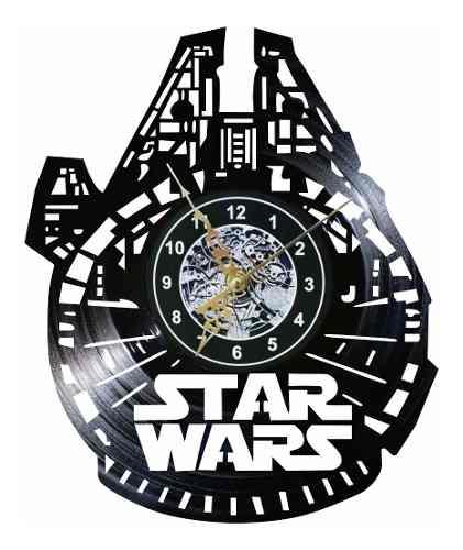 Reloj Vinil De Pared Halcón Milenario Star Wars