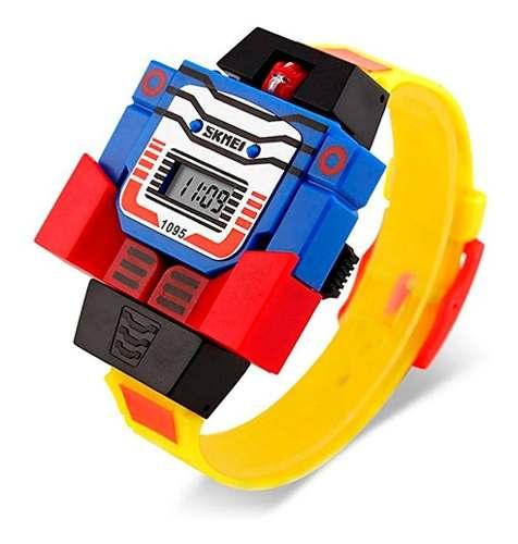 Skmei Reloj Niño Digital Diseño Robot Hora Fecha Modelo