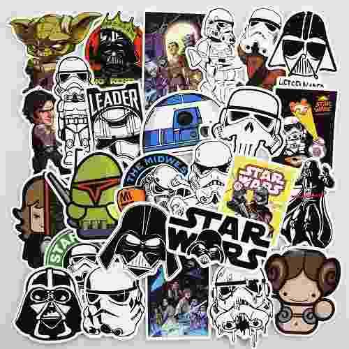 Star Wars 100 Calcomanias Stickers Pvc Contra Agua