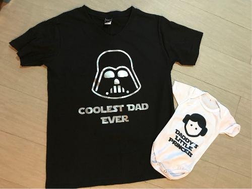 Star Wars Pkt Playeras Papa E Hija Duo Dia Del Padre
