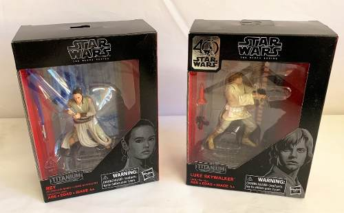Star Wars Titanium Series Luke Skywalker 40 Aniversar Y Rey
