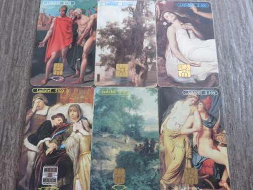 Tarjetas Telefonicas Arte De Las Academias 6 Piezas