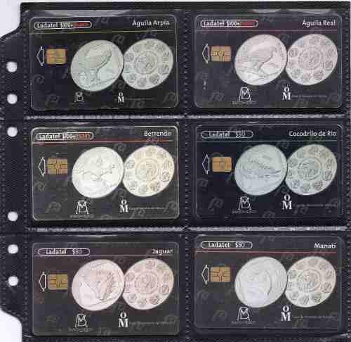 Tarjetas Telefonicas Serie Banco De Mexico Monedas