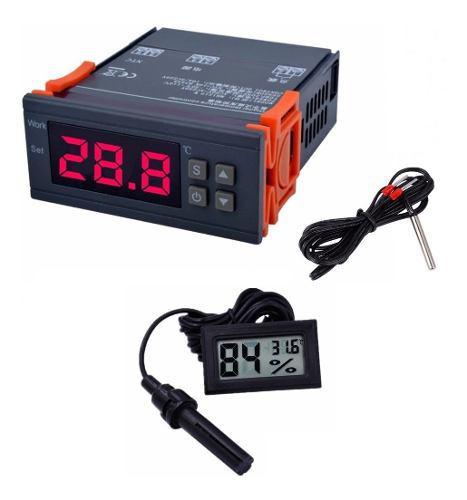 Termostato Controlador De Temperatura Y Higrometro
