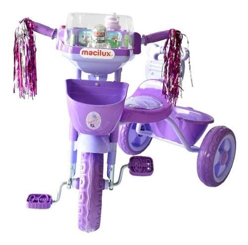 Triciclo Macilux Para Bebe Con Sonido Color Morado 3 Llantas