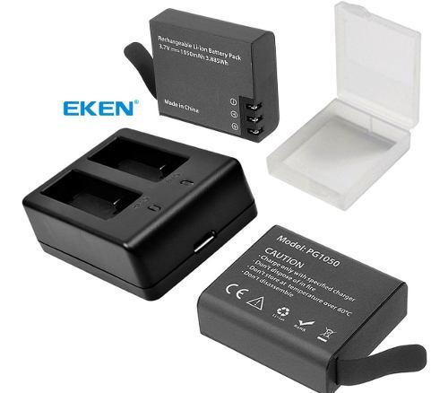 2 Baterias Eken + Cargador Dual Pilas, H5s, H9r, H8r, H6s,