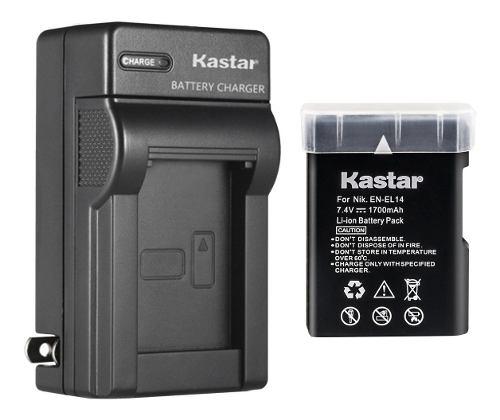 Batería Pila Y Cargador En-el14 Para Nikon D D