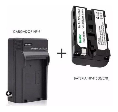 Bateria Np-f  Y Cargador - Lampara Led