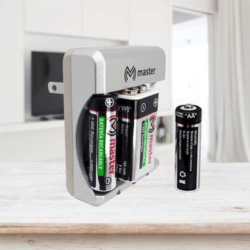 Cargador Master 2aa Mp-9v Incluye 1 Bateria Cuadrada Y 2 Aa