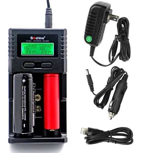 Cargador Pila Bateria Universal Recargable Aa Aaa C Li-ion